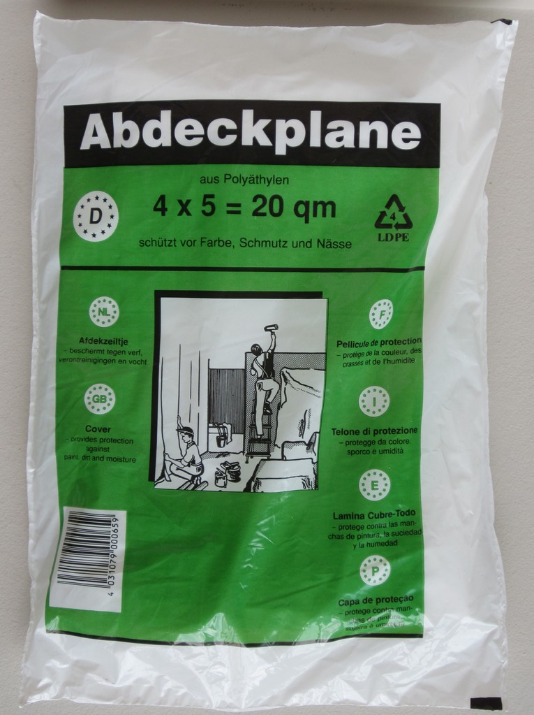 maler abdeckplane 10 my 20 qm leisten more shop. Black Bedroom Furniture Sets. Home Design Ideas