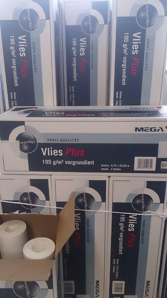 Vliestapeten Verarbeiten : Mega Vlies Plus – Mega Vliestapeten – Megatex Vliesfaser