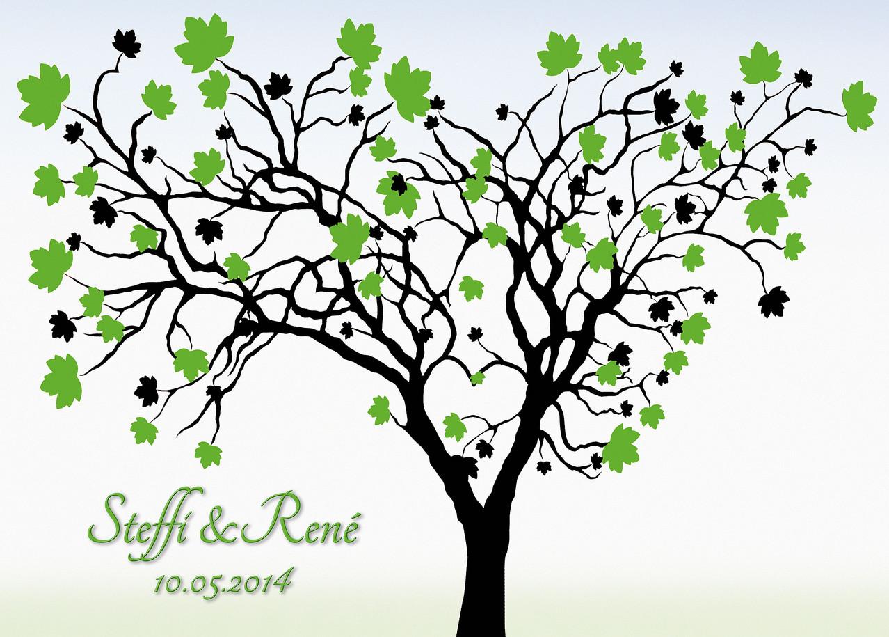 hochzeitsbaum selbst gestalten hochzeit weddingtree geschenk leinwand gaestebuch hochzeitsbaum. Black Bedroom Furniture Sets. Home Design Ideas