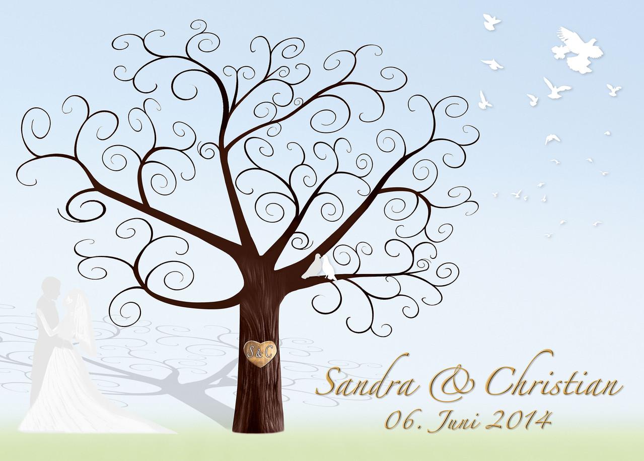 Wedding tree hochzeitsbaum fingerprint hochzeit weddingtree geschenk leinwand gaestebuch - Hochzeitsbaum leinwand ...