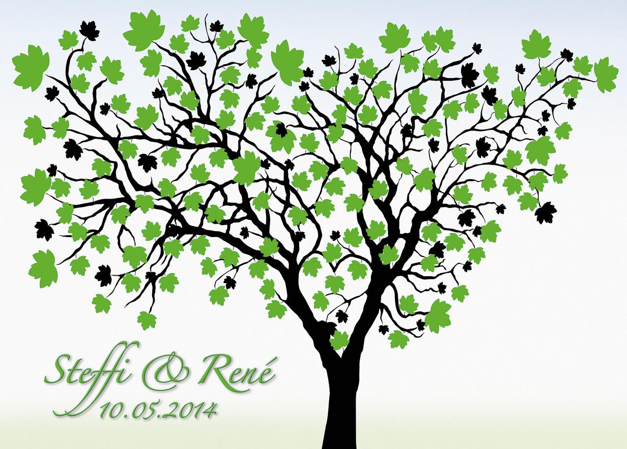 Hochzeitsbaum als g stespiel hochzeit weddingtree geschenk leinwand gaestebuch hochzeitsbaum - Hochzeitsbaum leinwand ...
