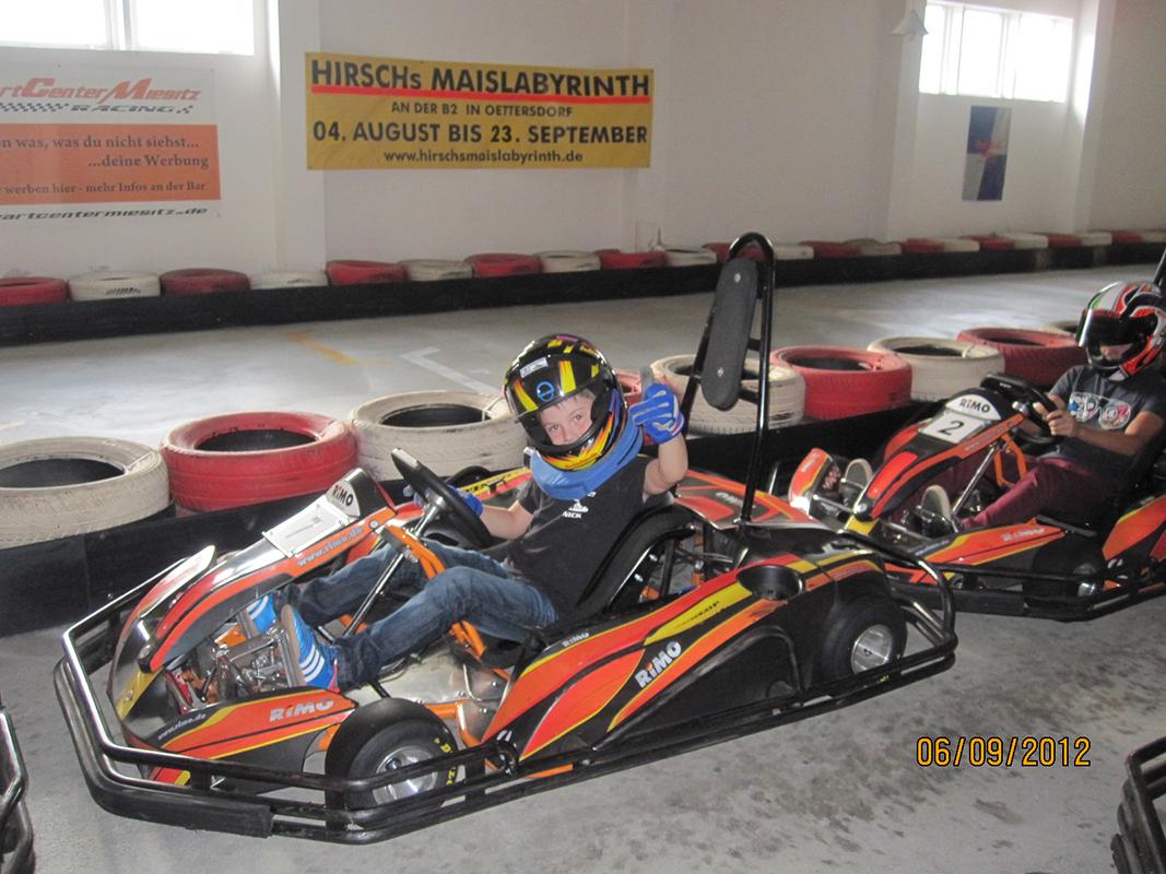 vor 2013: Hobbyrennen mit dem Kart
