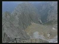 Panorama-Blick aus der Irmenscharte auf Riffelwandkamm und Höllental