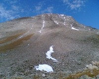 Die Südwestflanke nach dem Abstieg