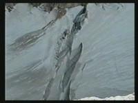 Der obere Gletscherbruch mit bis zu 100m tiefen Spalten