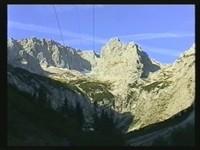 Aussicht auf Zugspitzmassiv mit Jubiläumsgrat und Riffelköpfe