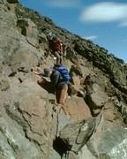 Große Blöcke erfordern Kletterei