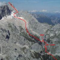 Unsere heutige Höllental-Aufstiegsroute