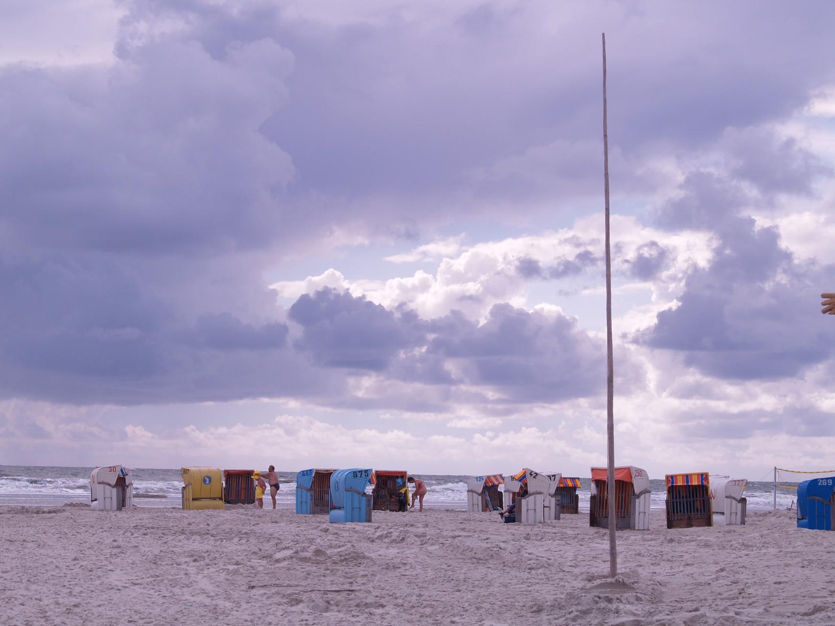 Windiger Strandtag