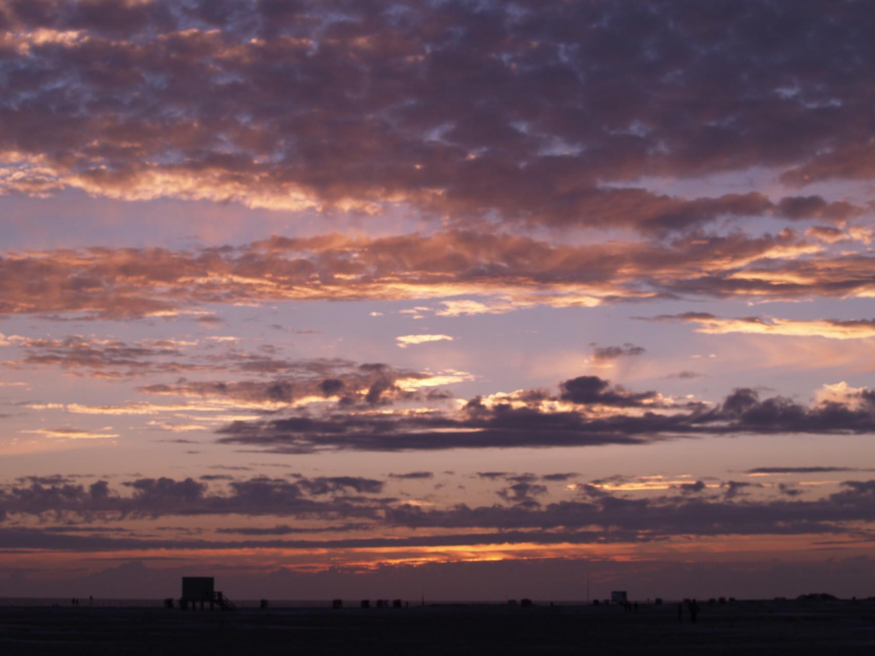 Abendhimmel über der Nordsee bei Amrum