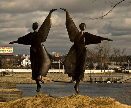 ONCE THEY DANCED FOR THE FAST FOOD PLACES ACROSS THE RIVER. NOW THEY DANCE FOR ME.