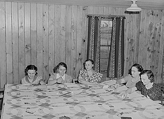 Quilting Bee: 1940 - Farm Security Administration