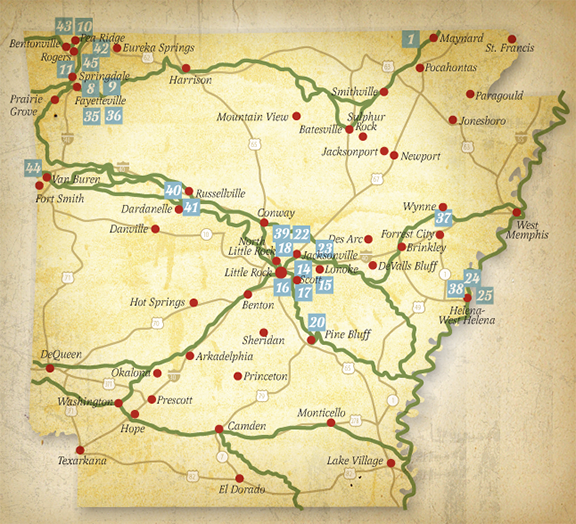 SOME FAMOUS TRAILS THROUGH ARKANSAS