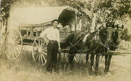 OLD PHOTO OF A PROUD OWNER