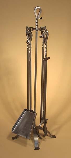 Jeu outils A-4 acier brossé métal 3/8 carré poignées forgé