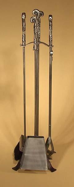 Jeu outils A-6 acier brossé métal 3/8 rond poignées 5/8 rond forgé