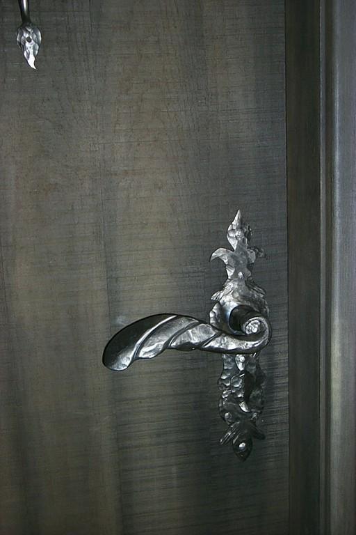 Poignée de porte forger