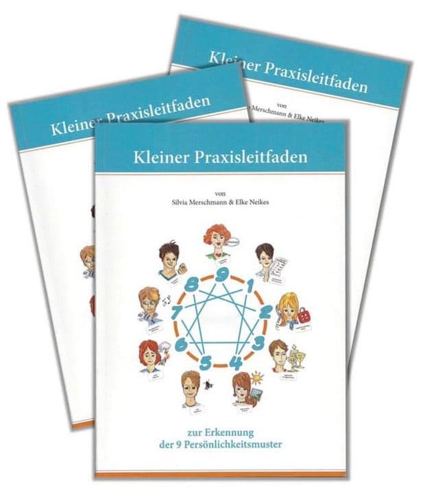 Drei Bücher die übereinander liegen. Titel der Bücher: Kleiner Praxisleitfaden.