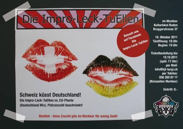 15.10.2011: Schweiz küsst Deutschland