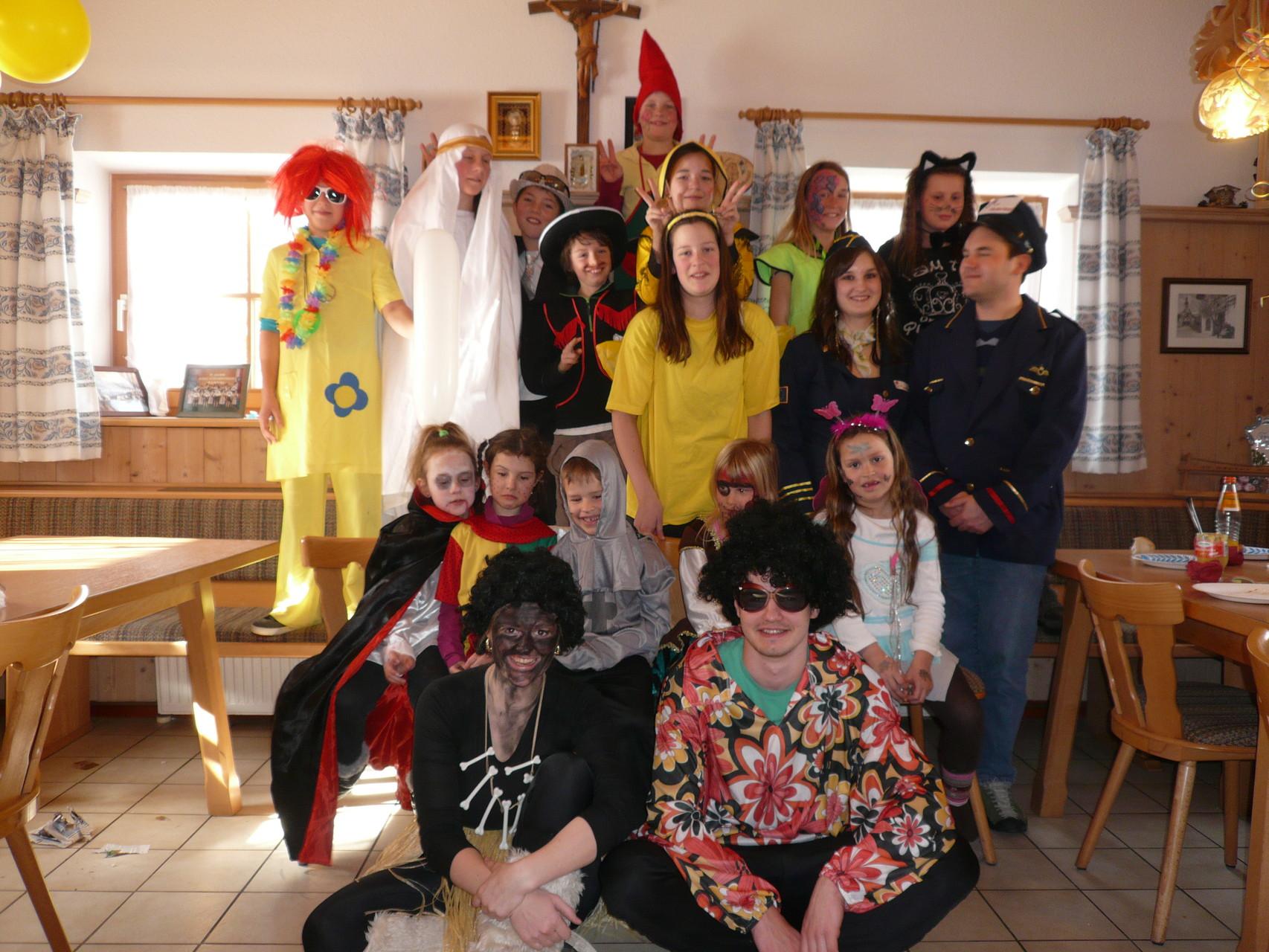 Kindergruppe Fasching 2015