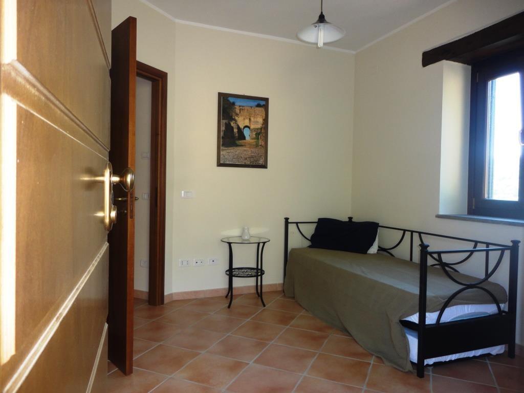 La camera con letto singolo (e possibiltà di letto aggiunto)