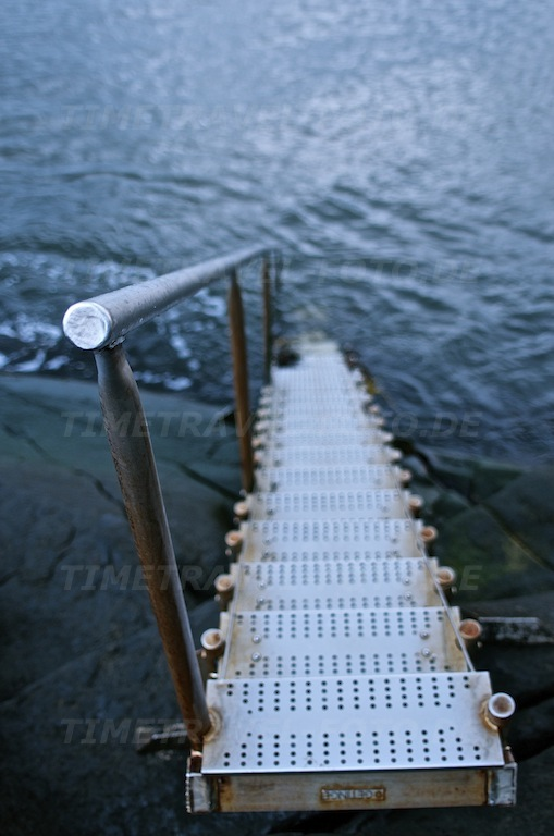 Treppe ins Meer. Ugglarp, Schweden. Foto: E. Knipschild