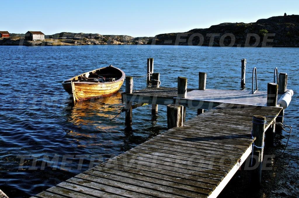 Bootsteg. Sövall, Schweden. Foto: E. Knipschild