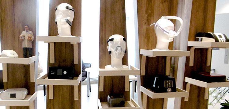 院内のCPAP治療器具展示ブース