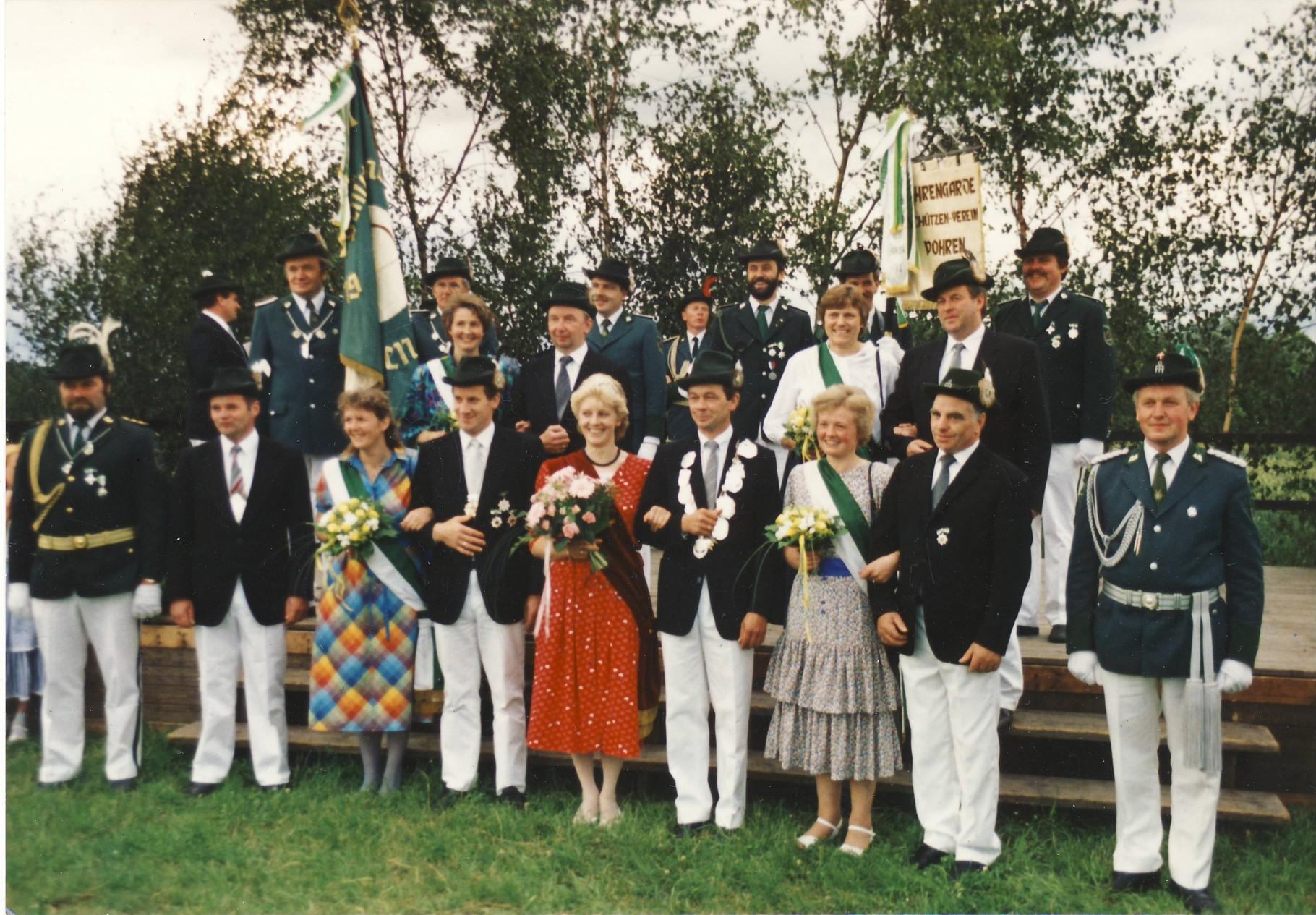 1988: König Heinz-Josef Große Hartmann und Königin Margret Große Hartmann