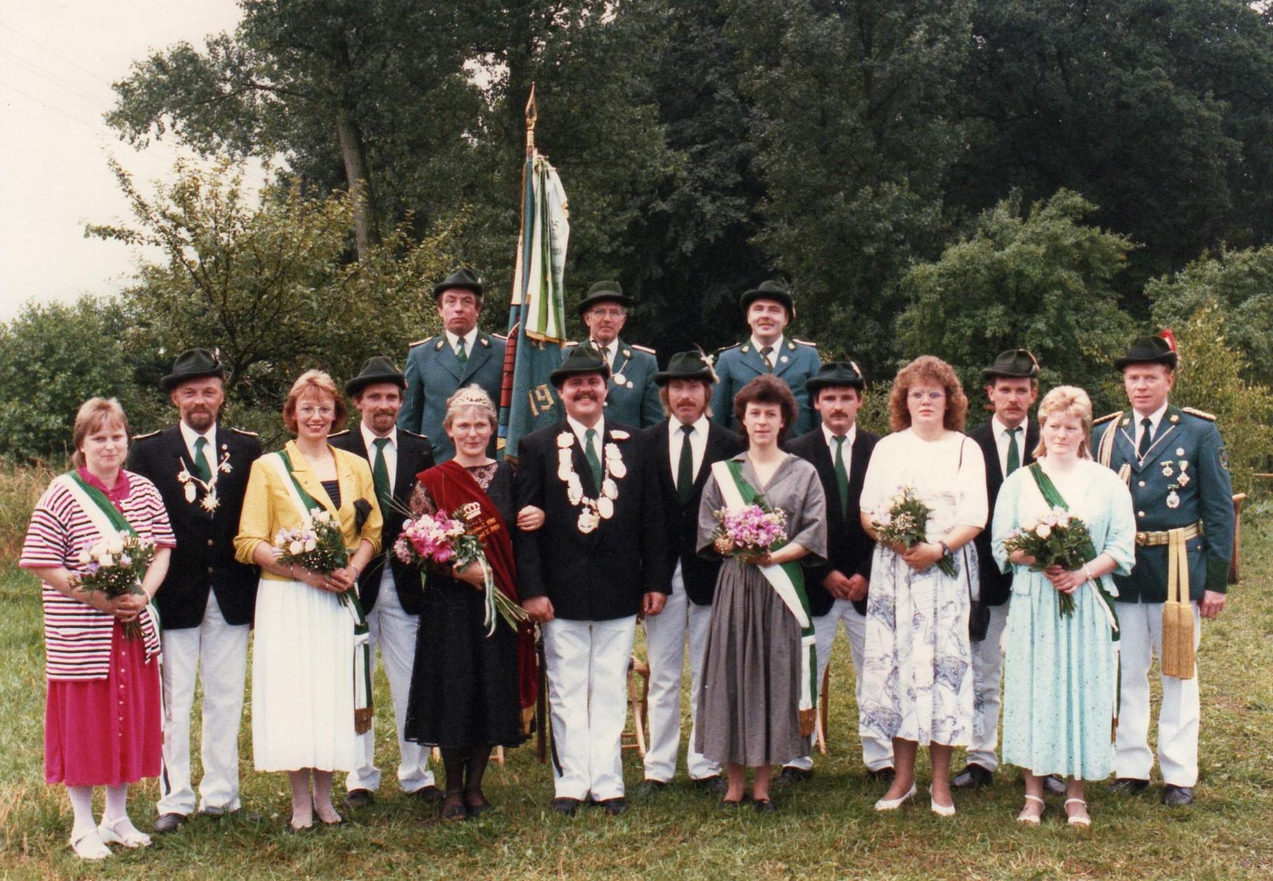 1989: König Karl-Heinz Pomberg und Königin Christel Pomberg