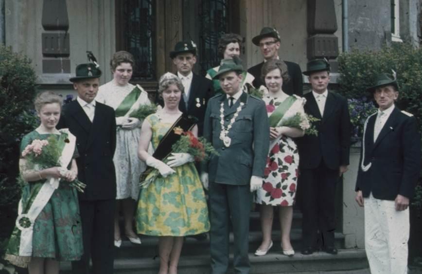 1962: König Rudolf Gerbaulet und Königin Margret Tollmann