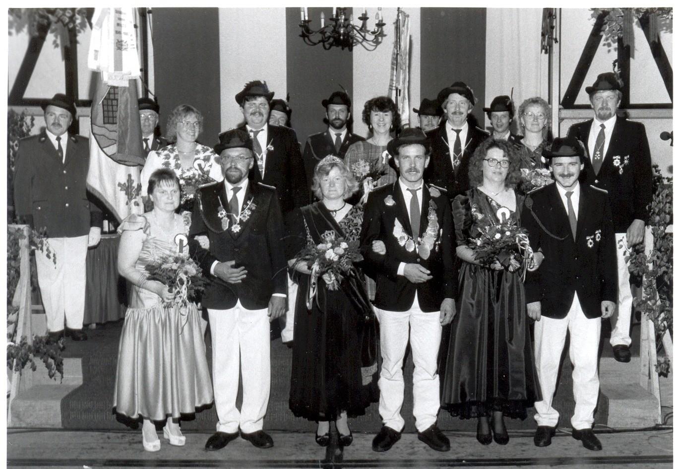 1992: König Josef Wöstmann und Königin Bärbel Wöstmann