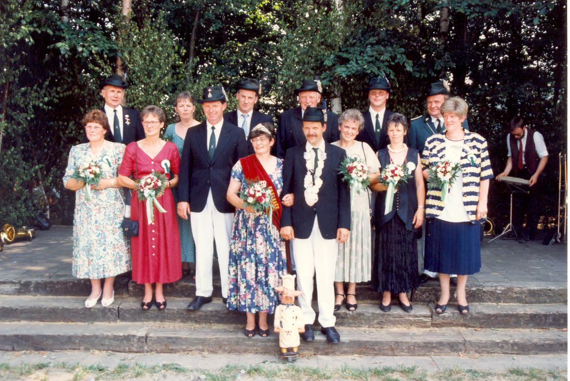 1993: König Bernhard Benneker und Königin Anna Benneker