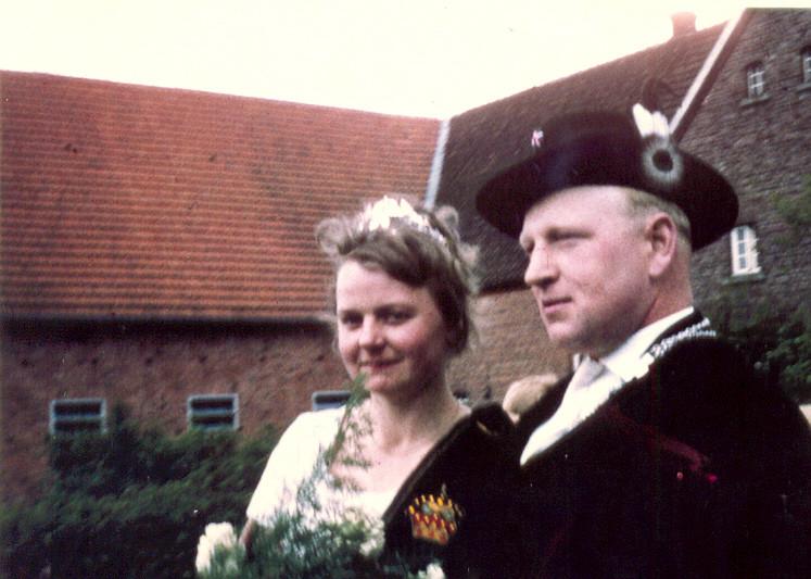 1961: König Franz Bußmann und Königin Cäcilia Havelt