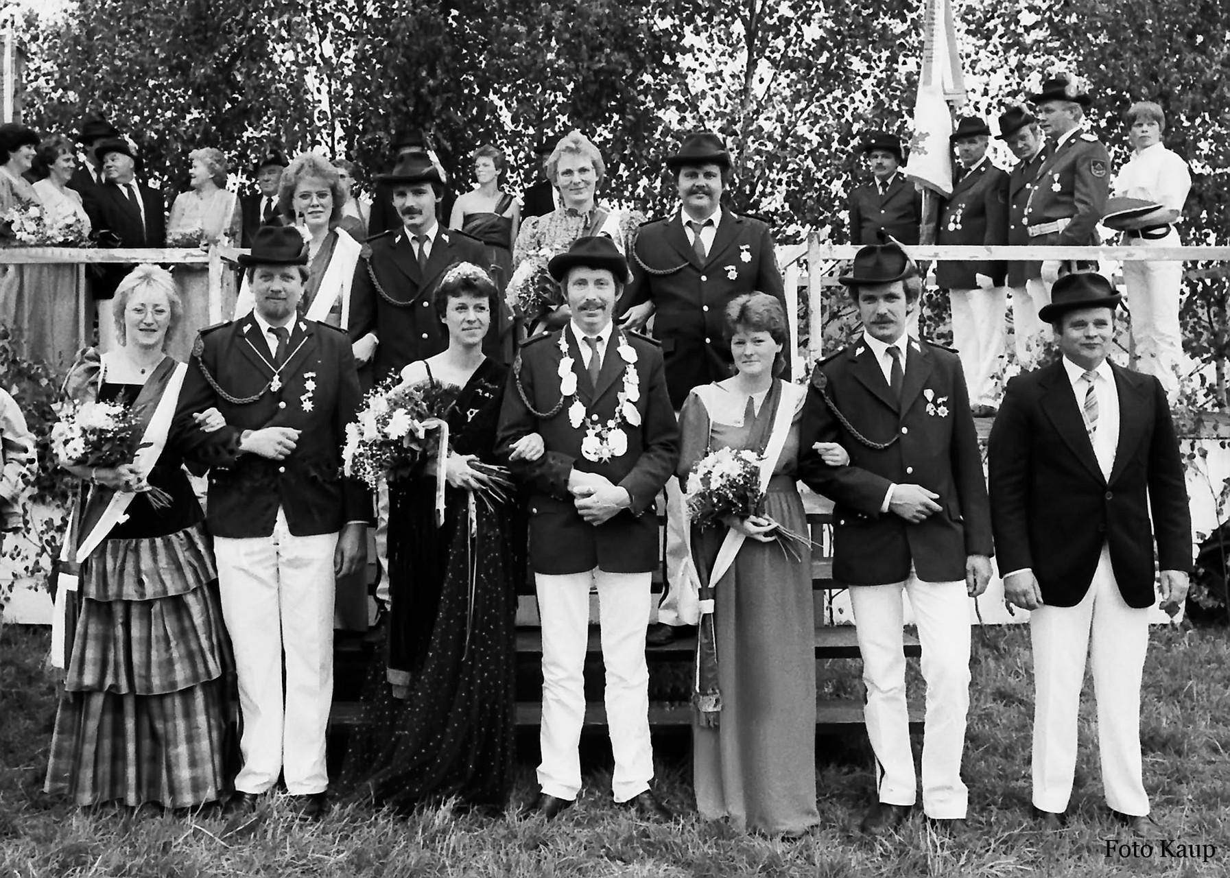 1986: König Reinhard Weiß und Königin Doris Weiß