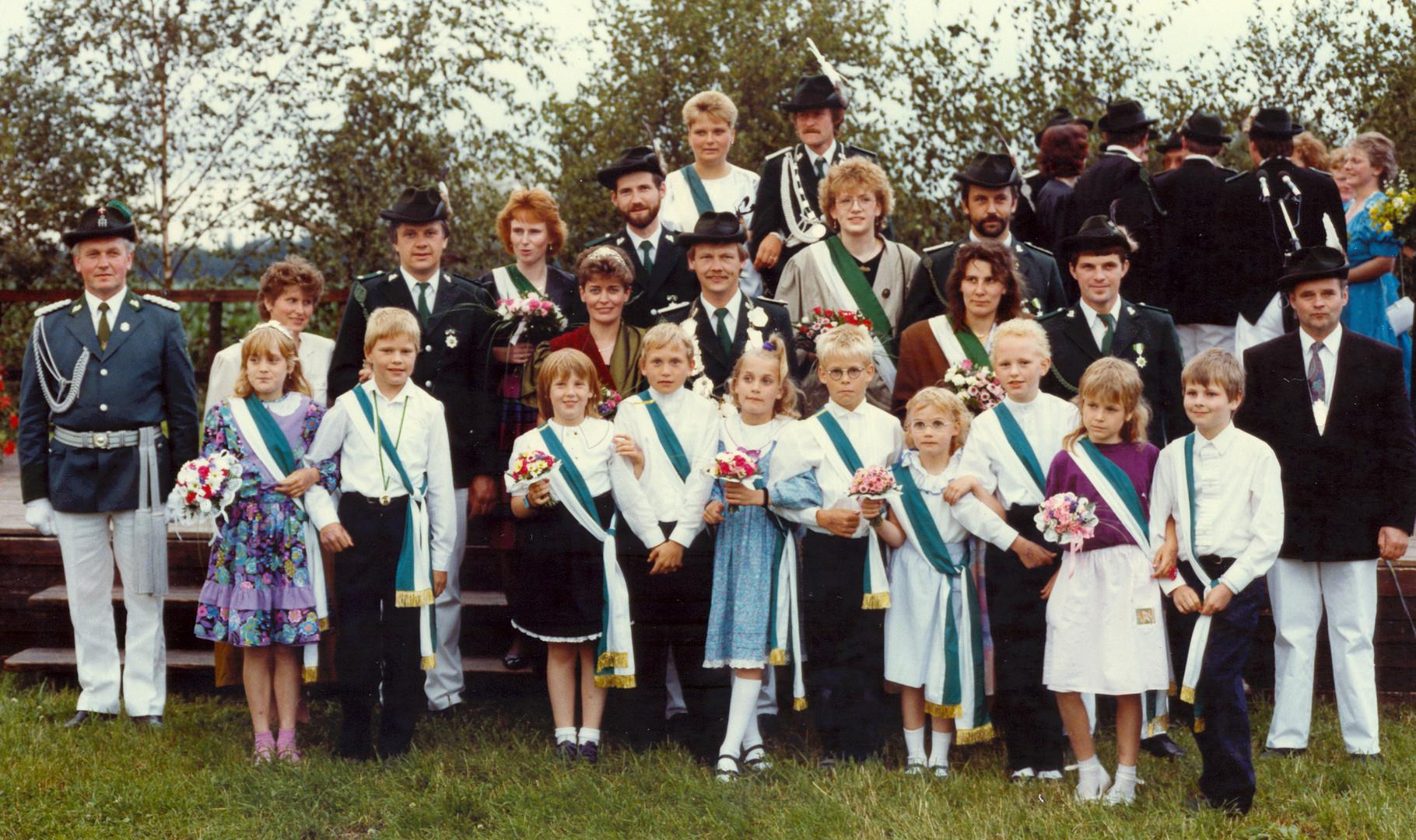 1990: König Heinz-Josef Voss und Königin Irmgard Voss