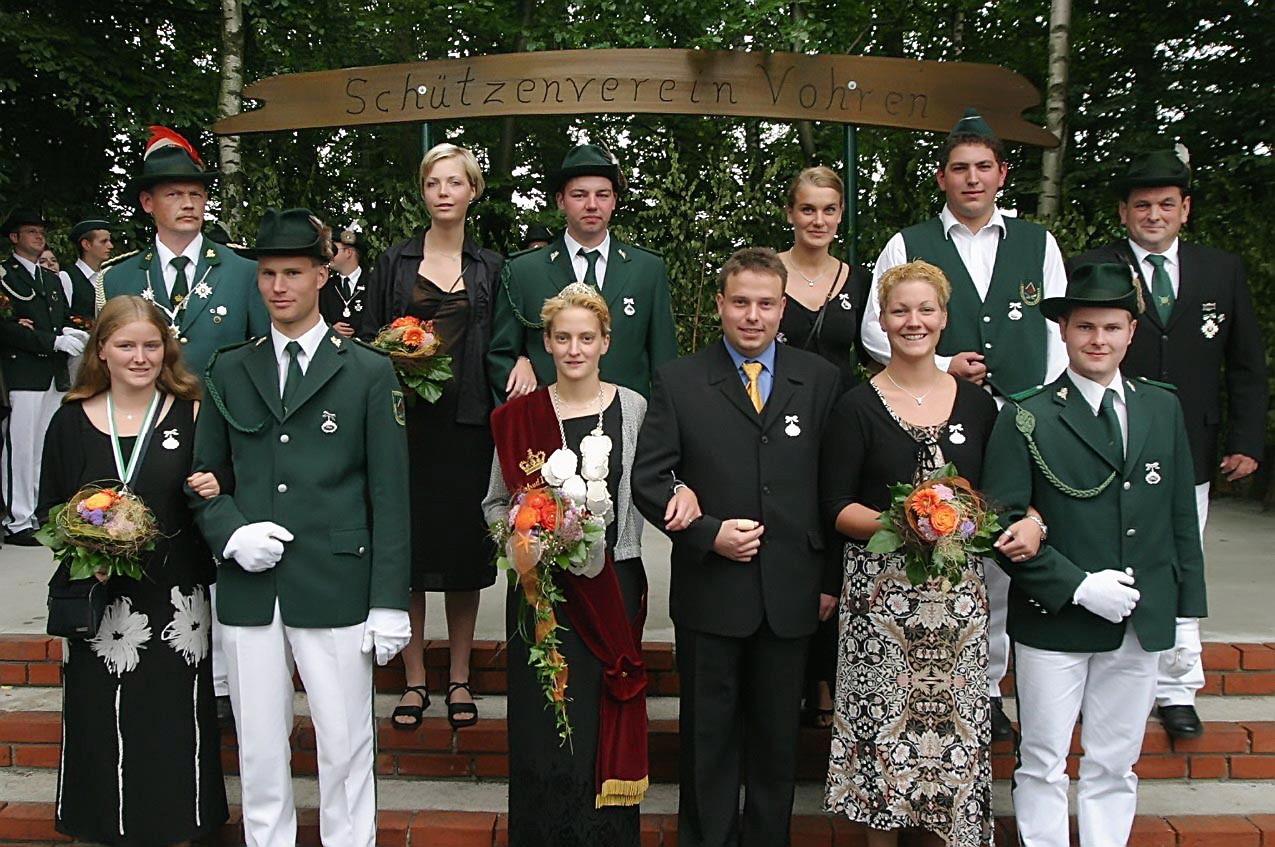 2003: Königin Nicole Blienert und Prinzgemahl Björn Drommelschmidt