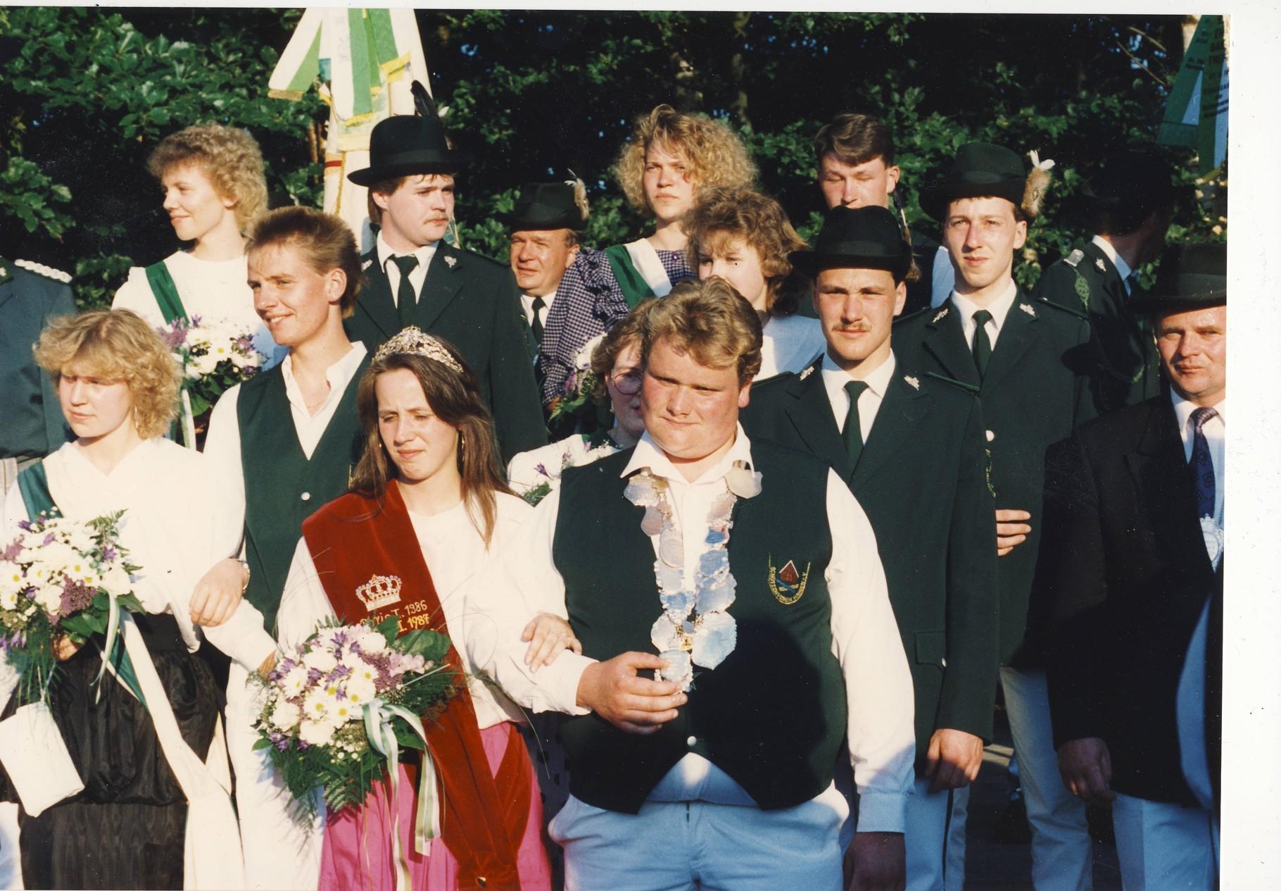 1991: König Johannes Schulze Zumloh und Königin Marion Hagemeyer