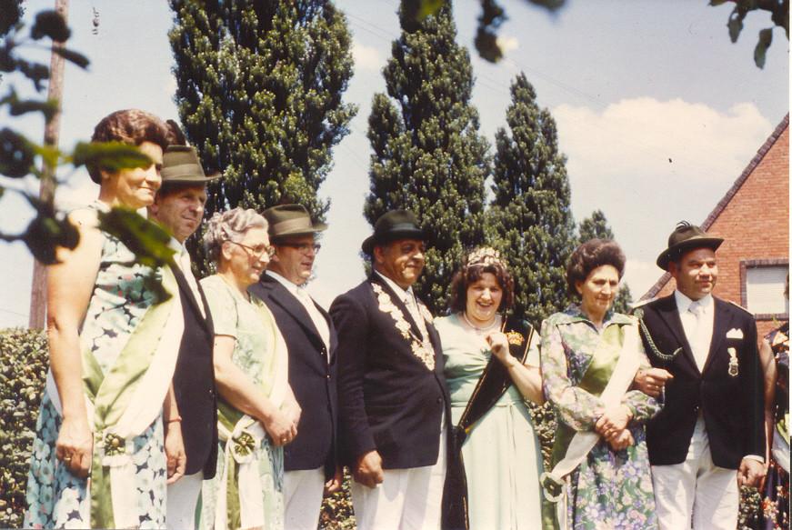 1974: König Eduard Brinkrolf und Königin Inge Oguntke