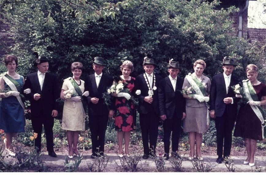 1964: König Hubert Terwort und Königin Elfriede Pohlchristoph
