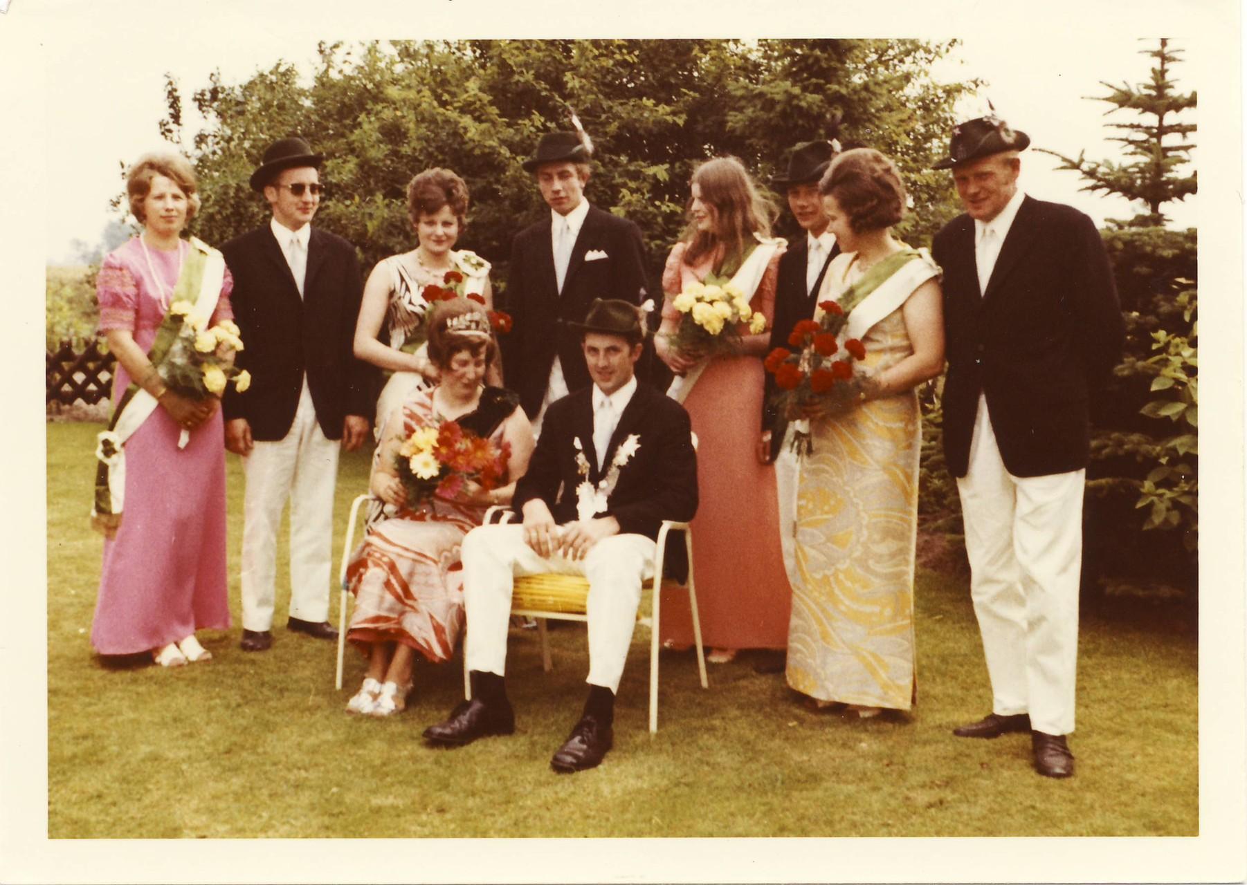 1971: König Helmut Pomberg und Königin Irmgard Hagemeyer