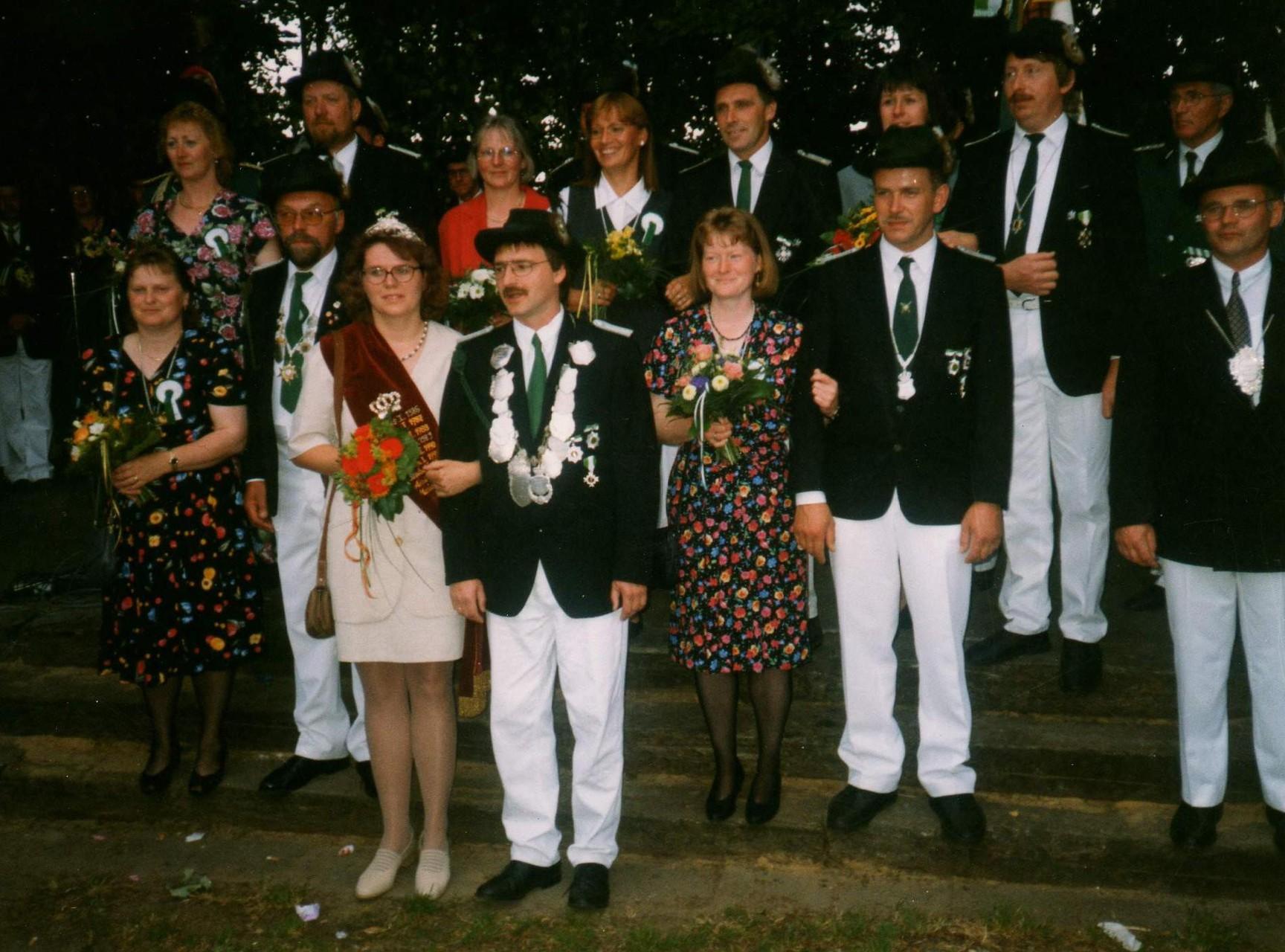 1995: König Walter Straßburger und Königin Hannelore Straßburger