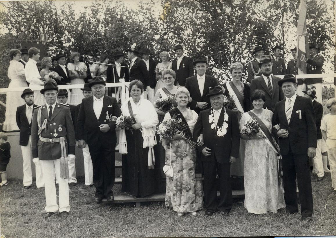1985: König Karl Kempkes und Königin Mathilde Kempkes