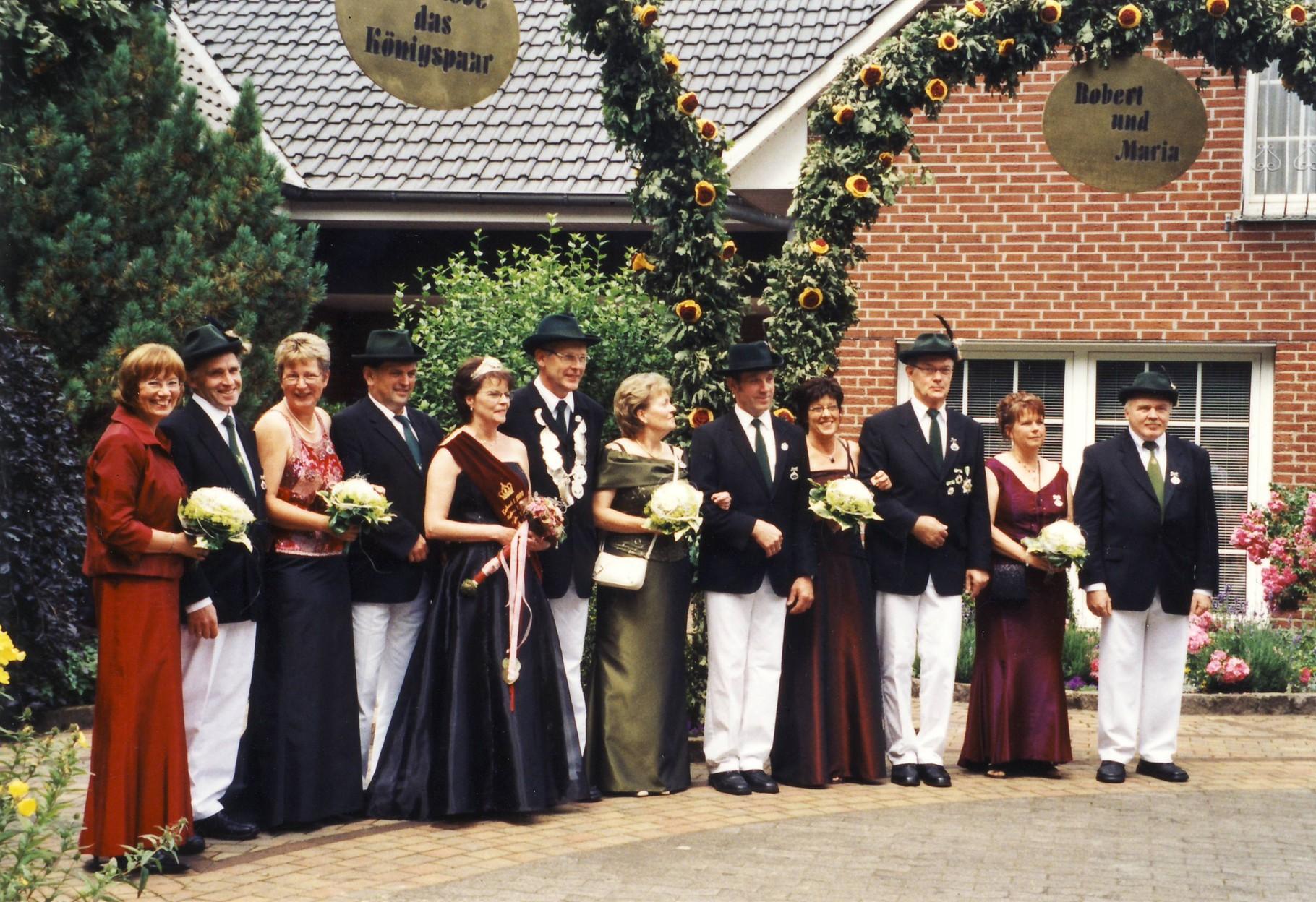 2004: König Robert Schulze Zumloh und Königin Maria Schulze Zumloh