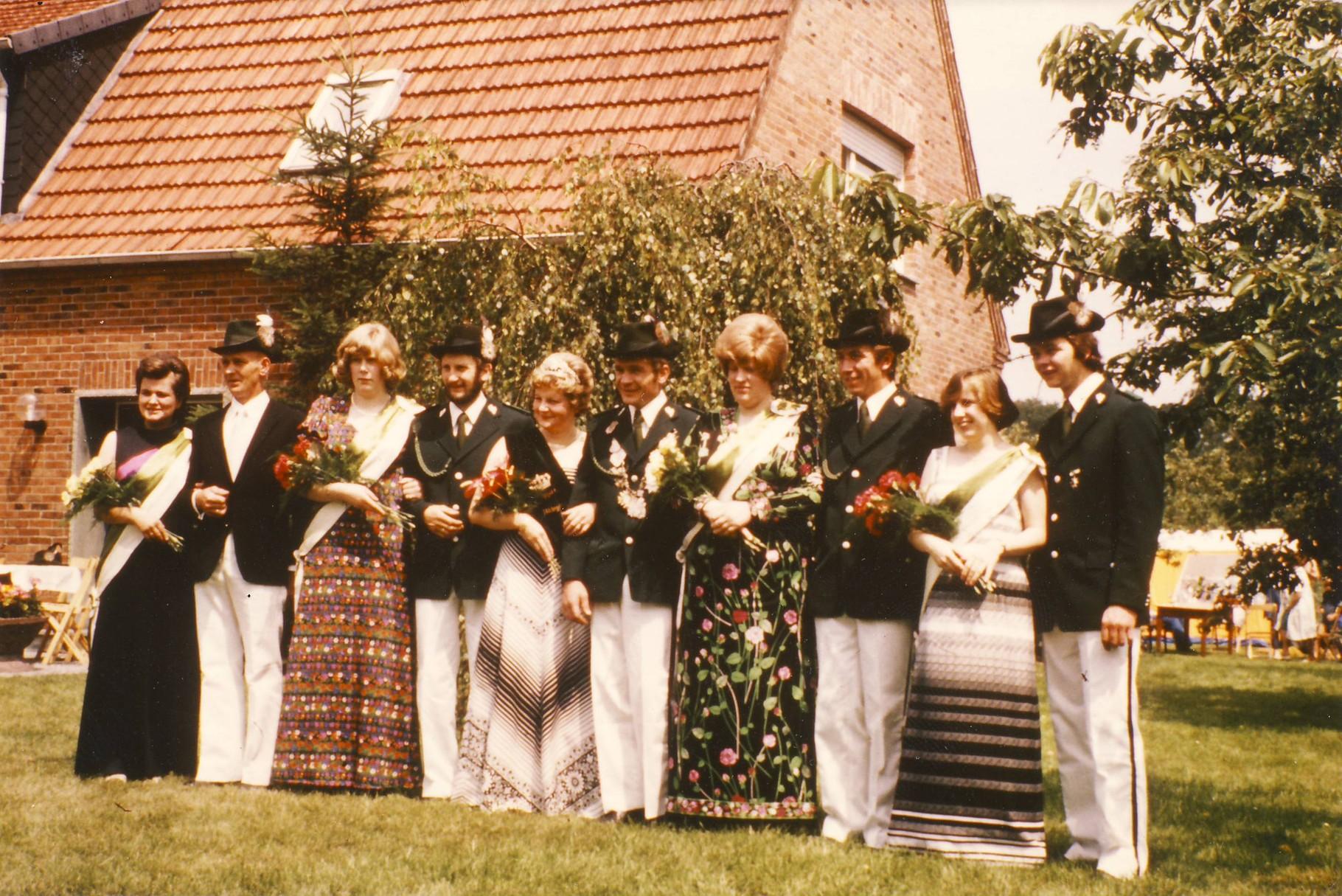 1976: König Hermann Niehörster und Königin Hildegard Heitmann