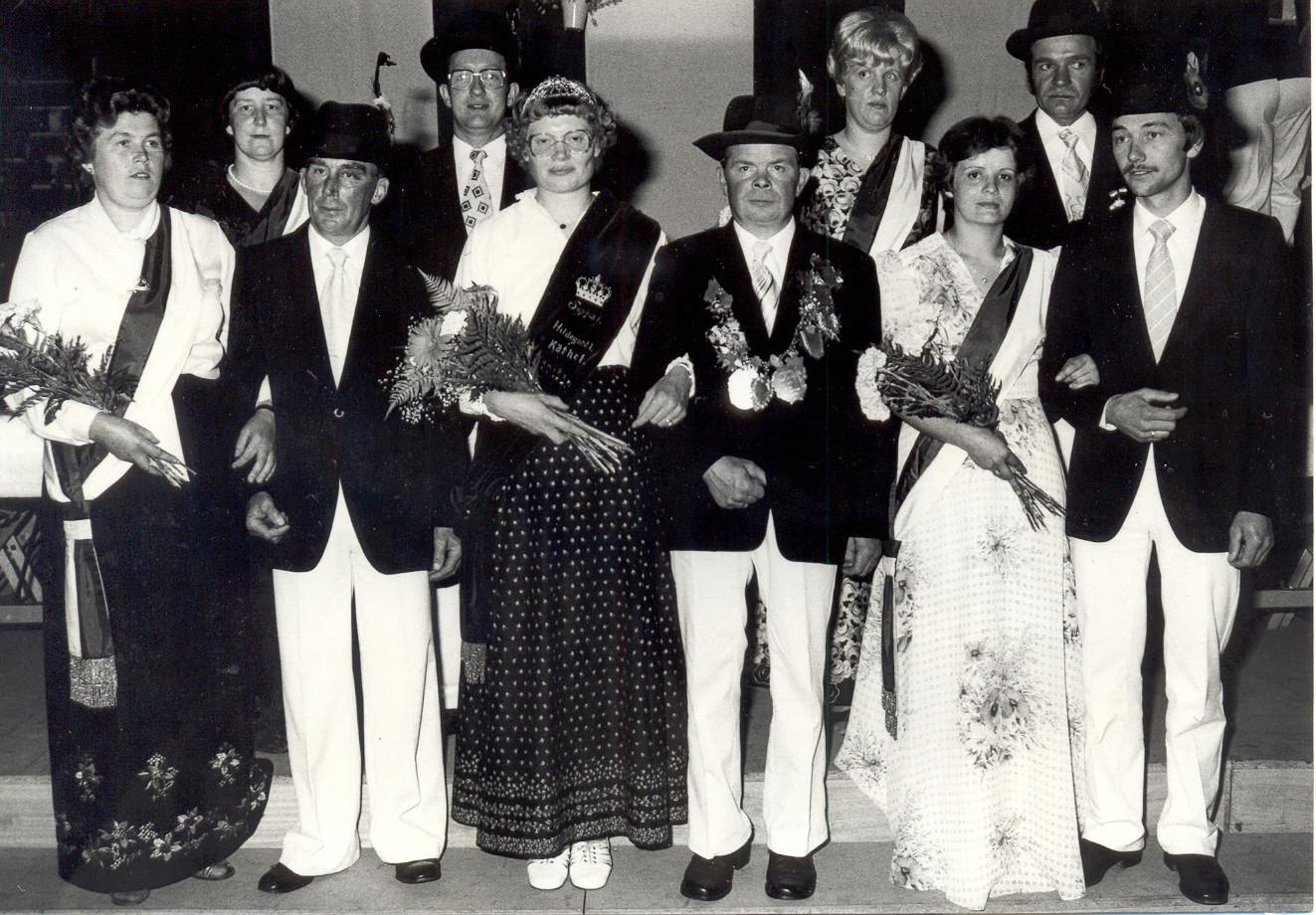 1981: König Josef Schalkamp und Königin Mathilde Schalkamp