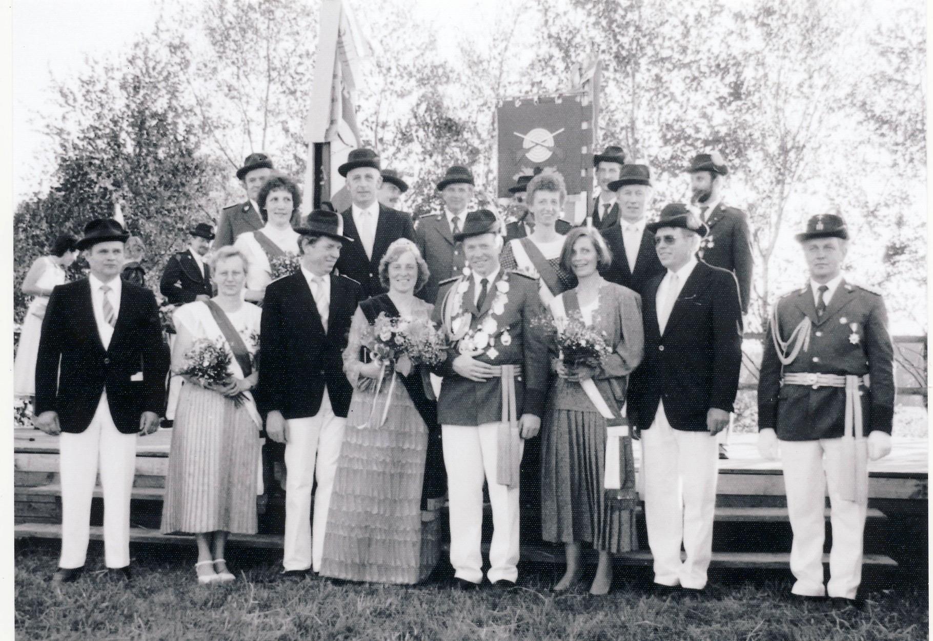 1987: Kaiser Bernhard Lackhove und Kaiserin Regina Lackhove