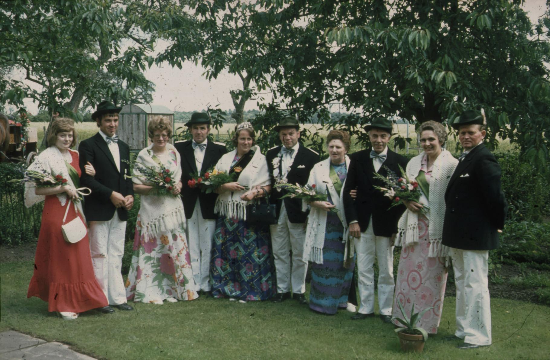 1973: König Josef Wilmer und Königin Anneliese Wilmer
