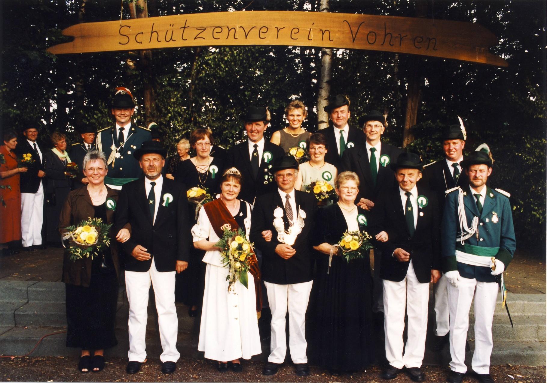 2000: Kaiser Theo Austermann und Kaiserin Gertrud Austermann