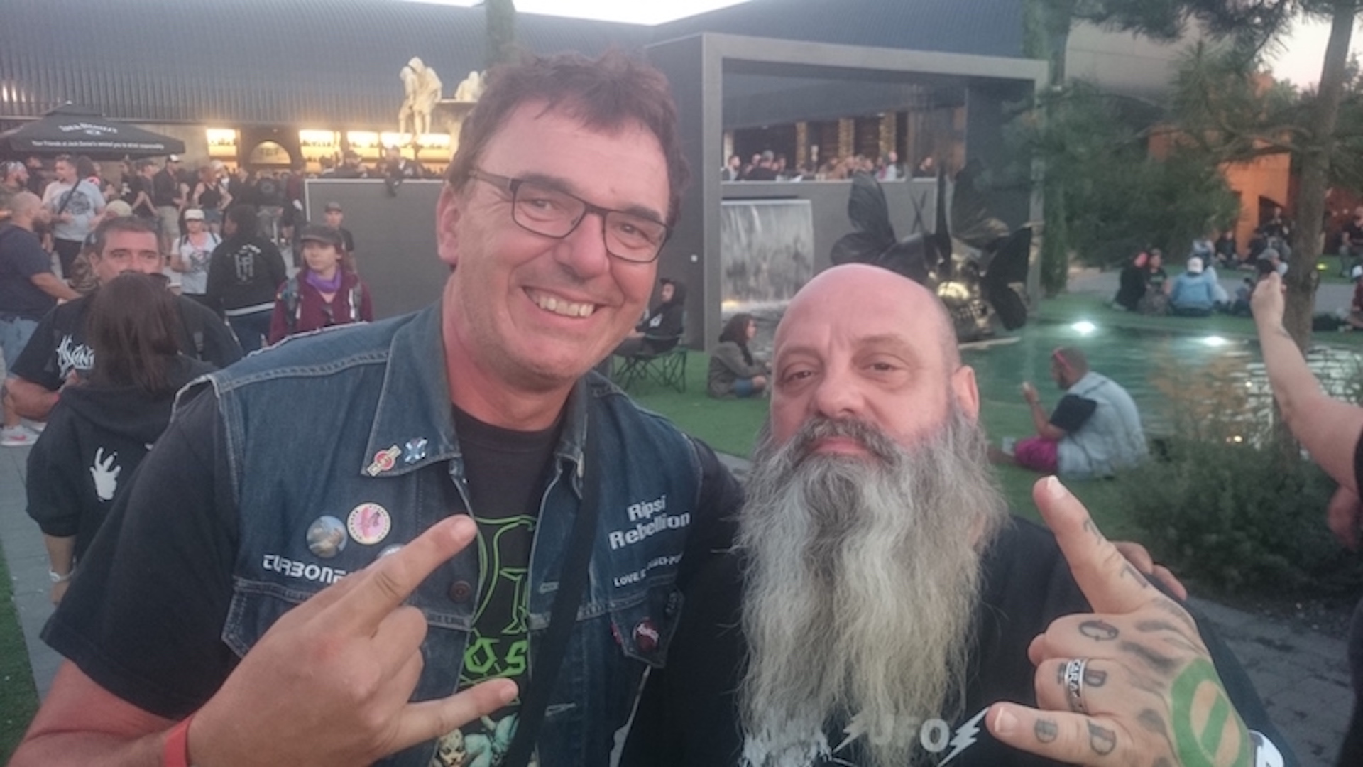 With Kirk winstein (Crowbar, Down), Hellfest 2018